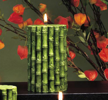 Bamboo Pillar Candle